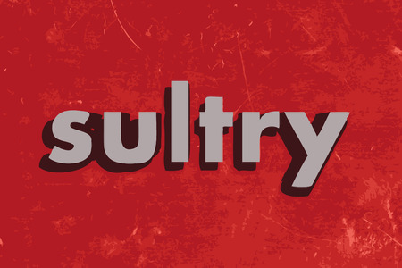 sultry: sultry vector word on red concrete wall Illustration