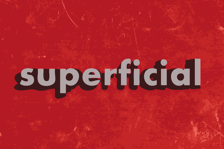 superficial: superficial vector word on red concrete wall Illustration
