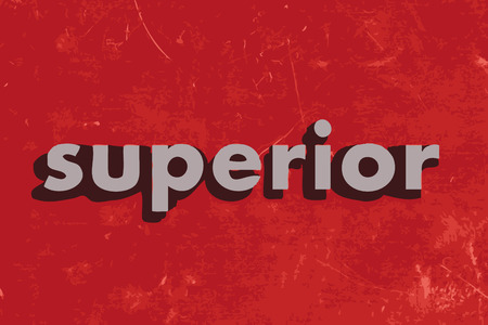 superior: superior vector word on red concrete wall