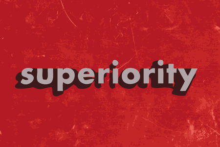 superiority: superiority vector word on red concrete wall Illustration
