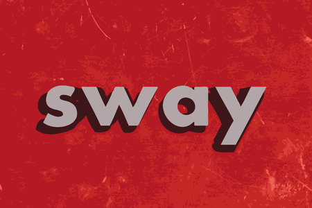 sway: sway vector word on red concrete wall Illustration