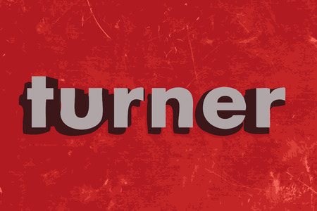 turner: turner vector word on red concrete wall