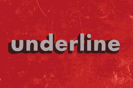 underline: underline vector word on red concrete wall Illustration