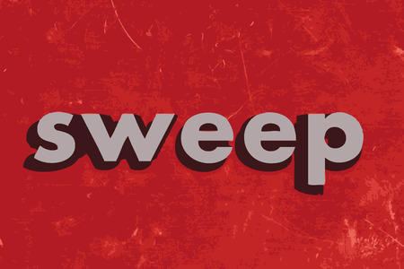 sweep: sweep vector word on red concrete wall Illustration