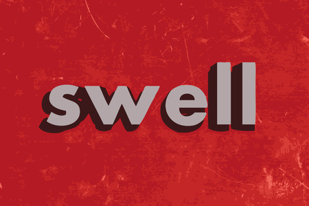swell: swell vector word on red concrete wall