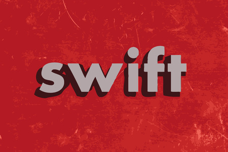 swift: swift vector word on red concrete wall