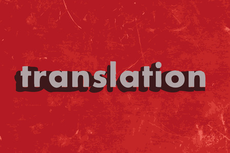 translation vector word on red concrete wall Illustration