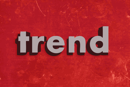 trend: trend vector word on red concrete wall
