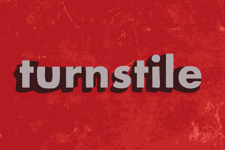 turnstile: turnstile vector word on red concrete wall