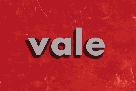 vale: vale vector word on red concrete wall Illustration