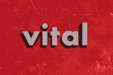 vital: vital vector word on red concrete wall