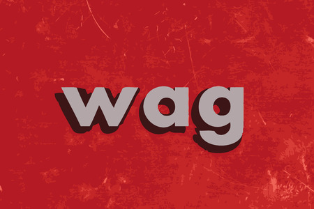 wag: wag vector word on red concrete wall