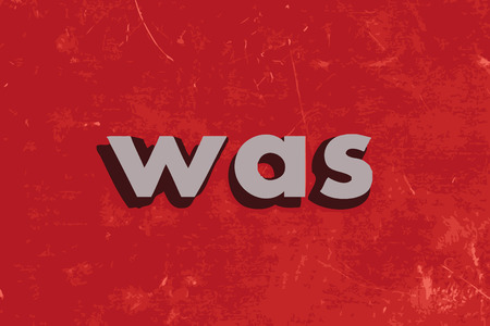 was: was vector word on red concrete wall Illustration