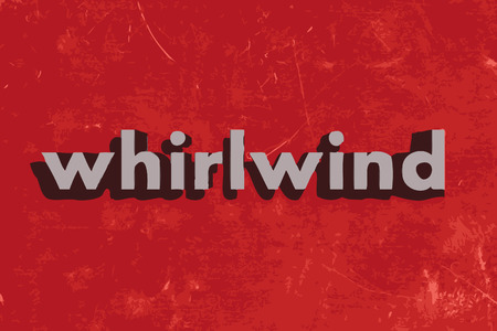 whirlwind: whirlwind vector word on red concrete wall