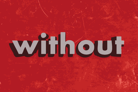 without vector word on red concrete wall Illustration