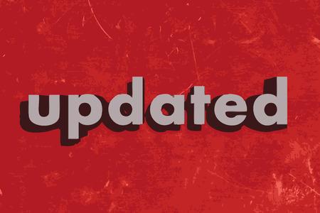 updated: palabra vector actualizado en rojo muro de hormig�n