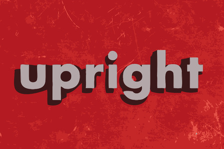upright: upright vector word on red concrete wall Illustration