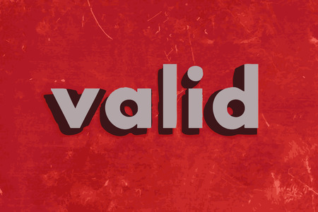 valid: valid vector word on red concrete wall