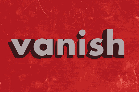 vanish: vanish vector word on red concrete wall Illustration