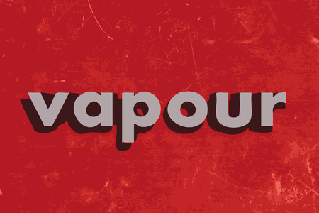 vapour: vapour vector word on red concrete wall Illustration