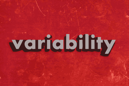 variability: variability vector word on red concrete wall