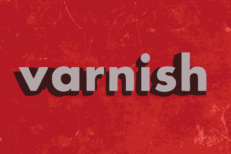 varnish: varnish vector word on red concrete wall