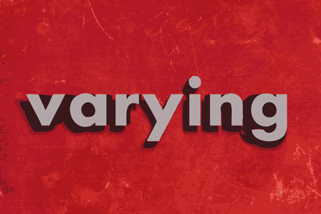 varying: varying vector word on red concrete wall