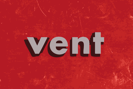 vent: vent vector word on red concrete wall