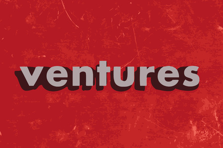 ventures: ventures vector word on red concrete wall