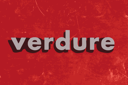 verdure: verdure vector word on red concrete wall