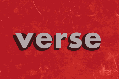 verse: verse vector word on red concrete wall Illustration