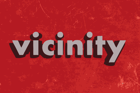 vicinity: vicinity vector word on red concrete wall