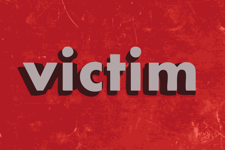 victim: victim vector word on red concrete wall