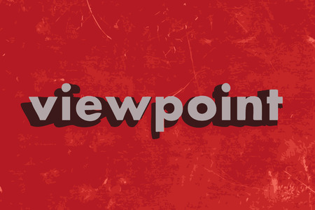viewpoint: viewpoint vector word on red concrete wall Illustration