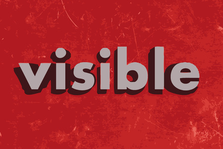 visible: visible vector word on red concrete wall