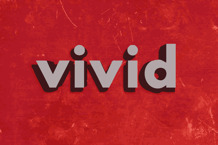 vivid: vivid vector word on red concrete wall Illustration