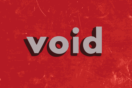 void: void vector word on red concrete wall Illustration
