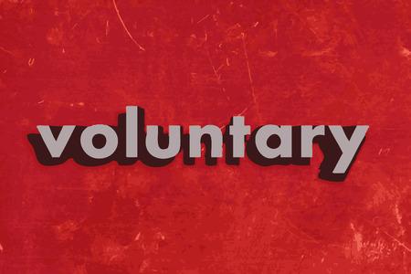 gönüllü: kırmızı beton duvara gönüllü vektör kelime Çizim