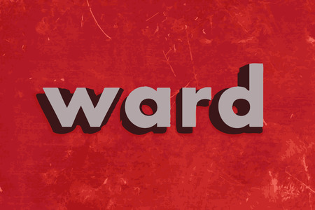 ward: ward vector word on red concrete wall Illustration