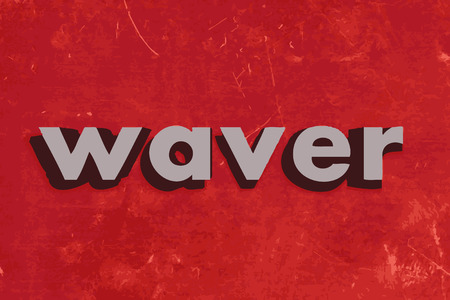 waver: waver vector word on red concrete wall