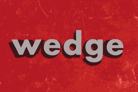 wedge: wedge vector word on red concrete wall