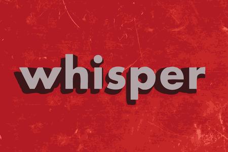 whisper: whisper vector word on red concrete wall Illustration