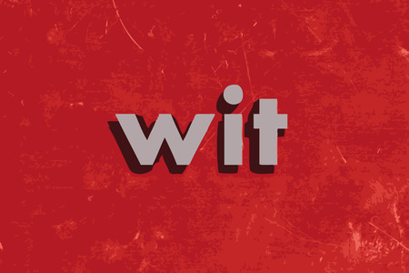 wit: wit vector word on red concrete wall