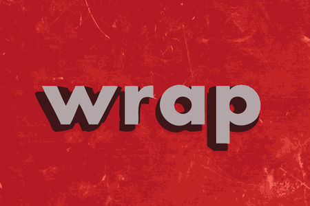 wrap vector: wrap vector word on red concrete wall