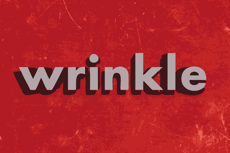 wrinkle: wrinkle vector word on red concrete wall Illustration