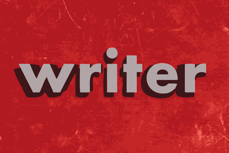 writer: writer vector word on red concrete wall Illustration