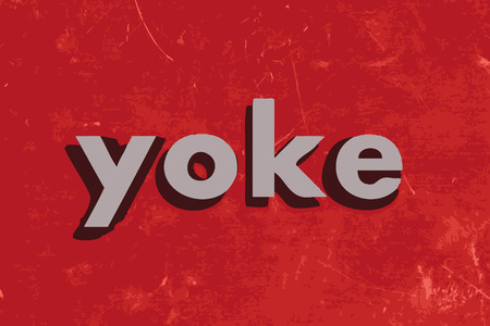 yoke: yoke vector word on red concrete wall Illustration