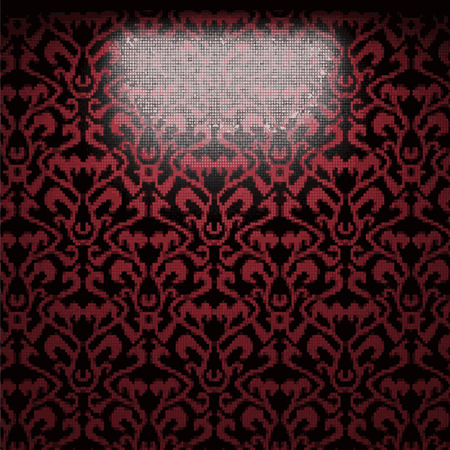 vector illuminated tile wall background Vector
