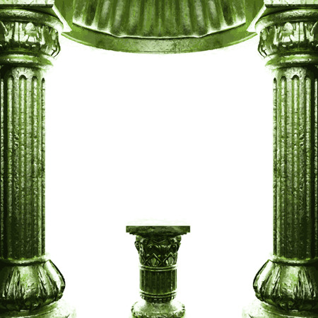 vector bronze columns and arch Vector