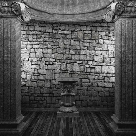 pedestal: vector stone columns and pedestal Illustration